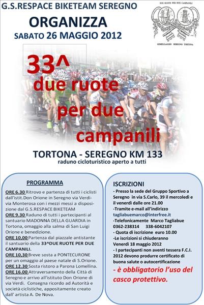 33° DUE RUOTE PER DUE CAMPANILI   Respace